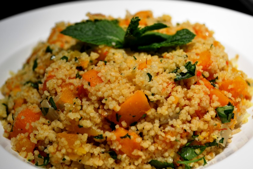 Couscous with butternut squash and dried apricots ...