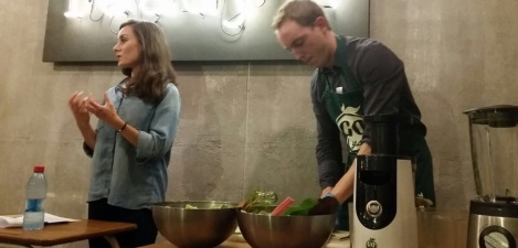 Me and my hubby during our last workshop we did on juicing.